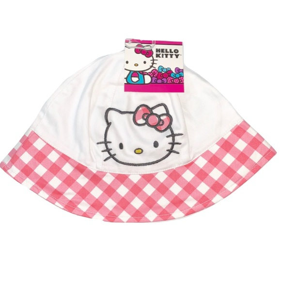 Hello Kitty Girls Pink or White Beach Summer Sun Bucket Hat